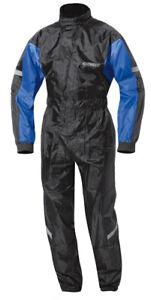 Held Splash Waterproof Motorcycle Motorbike Rain Suit - Black / Blue