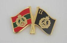 2ND BN RAR & ROYAL AUSTRALIAN REGIMENT FLAGS LAPEL BADGE 25MM WIDE WITH 1 PIN