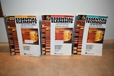 Essential Elements / Technique 2000 Percussion Book 1, 2 & 3 w/ CD / DVD + Key