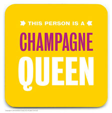 Brainbox Candy champagne coaster beer mat alcohol funny rude joke gift humour