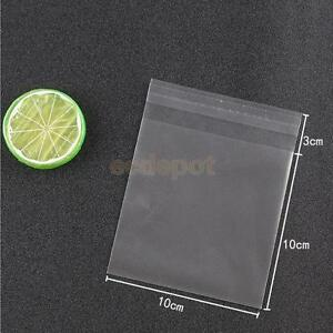 100pcs Clear Cookies Biscuits Snack Candy Gift Packaging Bag Decor 10x10cm