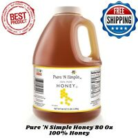 NEW Pure N Simple 100% Raw Honey 80 oz, No Added Ingredients Or Preservatives