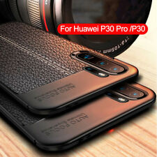 For Huawei P40 P30 Pro P20 Pro LiteShockproof Rubber TPU Leather Back Case Cover