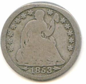 US Half Dime 1853 arrows  lotmar3573