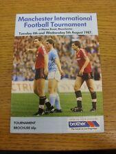 04/08/1987 Manchester International Football Tournament: Official Tournament Bro