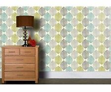 Arthouse Retro Leaf Teal Green Wallpaper 408207