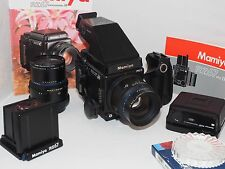 Mamiya RZ67 Pro II with TWO lenses and RB7 prism finder deluxe camera outfit. Ex