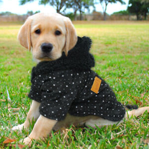 Winter Dog Coat Jacket Polka Dot Jumper Cat Puppy Hoodie Warm Apparel Sweatshirt