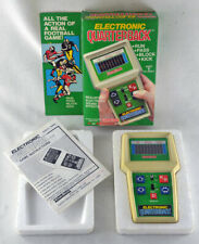 Vintage Coleco Handheld Electronic Quarterback Football Game COMPLETE IN BOX A+
