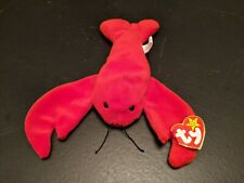 Vintage TY Beanie Baby Pinchers the Lobster 1993 Retired PVC Pellets