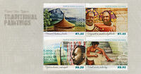 Papua New Guinea 2015 MNH Traditional Paintings 4v M/S Art Mount Elimbari