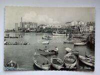 TORRE DEL GRECO il porto barche pescatori animata Napoli vecchia cartolina