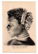 DEMOCRATIC REPUBLIC OF CONGO, AFRICA, SANGO WOMAN, COIFFURE, JEWELRY c. 1904-14
