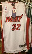 Shaquille O'neal Miami Heat NBA Jersey Sewn Men M Reebok Nwt New White Home Shaq