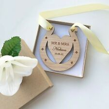 Personalised Wedding Lucky Horse Shoe, Engraved Bride & Groom Gift Anniversary