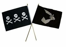 "12x18 12""x18"" Wholesale Combo Pirate Chris Condent & Thomas Tew Stick Flag"
