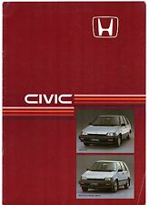 Honda Civic Shuttle & Shuttle 4WD 1985 UK Market Sales Brochure