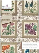 ANITA GOODESIGN - WILDFLOWERS IN WATERCOLOR - MACHINE EMBROIDERY DESIGNS USB PES