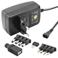 Universal Netzteil Ladegerät bis 600mA 230 Volt IN auf 3 4,5 5 6 7,5 9 12 V OUT