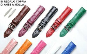 Cinturino Orologio In Pelle Completo Anse Universale 12-14-16-18-10-22-24-26mm