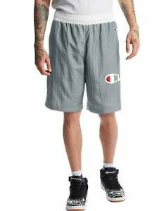 Men's Champion Life Crinkle Shorts Workout Basketball Classic Fit Pockets Nylon