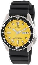Seiko SKXA35 BRAND NEW Mens Automatic Yellow Dial Black Polyurethane Strap Watch