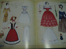 2005 Roy Brindamour Peg Wooden & China Head 1840's Style Paper Doll Uncut