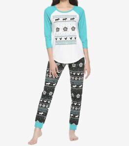 Supernatural The Family Business Baseball Shirt Thermal Pants Pajama Set Size S