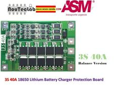 3S 40A 11.1V 12.6V 18650 Lithium Battery Protection Board with Balance BMS