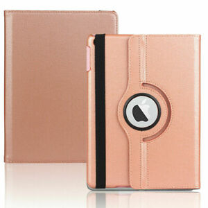 For iPad 9.7 5/6th 7th 8th Gen 10.2 Leather Smart Case Rotating Stand Flip Cover