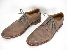 COLE HAAN BROWN LEATHER WINGTIP BROGUE DETAIL LACE UP OXFORD SHOES MEN'S 9.5 M