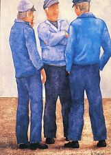 "Alte Kunstpostkarte - Bernard Morinay - ""Les cormorans bleus"""