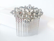 IVY Great Gatsby Bridal Hair Comb Rhinestone, Slide Art Deco Vintage 1920s 1930s