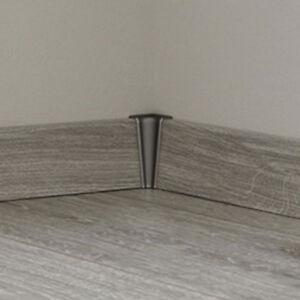 Innenecke silber grau passend zu Sockelleisten KRONOTEX Ktex 1 Ecken Innen 58mm