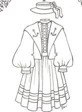 Sewing Clothes Sailor dress hat Pattern fits Himstedt large dolls You Pick Size