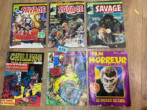 Marvel Comics UK Savage Action Punisher Moon Knight Swamp Thing Bundle