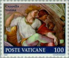 VATICAN CITY -1991- Restoration of Sistine Chapel - MNH Art Fresco Stamp - #871
