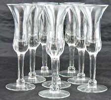 VINTAGE FLAIR LIQUEUR CLEAR GLASS/GOBLET SET 8 GLASSWARE,BARWARE,STEMWARE