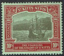 ST KITTS NEVIS 1923 300TH ANNIVERSARY 10/-