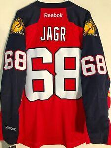 REEBOK PREMIER NHL JERSEY FLORIDA PANTHERS JAROMIR JAGR RED SIZE LARGE