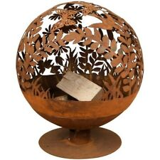 Garden Fire Pit Decorative Ball Portable Heater Cut Out Outdoor Patio Wood Burn