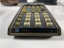 HEWLETT PACKARD HP-67 Calculator W Original Case Reference Card Power Cord Works