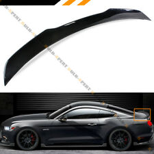 For 2015-18 Ford Mustang S550 H Style Painted Glossy Blk Rear Trunk Spoiler Wing