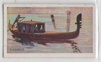 Gondola Venice Italy Canal Boat Craft 85+ Y/O Trade Ad Card