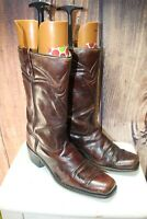 Acme Vintage 11 D Square Toe Leather Brown Men's Cowboy Western Boots
