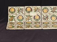 More details for six victorian tiles. 3 damaged on base. front excellent lovely design
