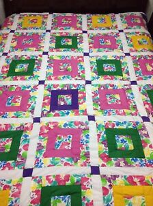 Floral Square in a Square Queen Quilt