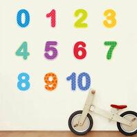 Number Educational Wall Sticker Nursery Kids Room Bedroom Art Mural Wall Decal