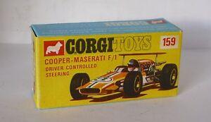 Repro Box Corgi Nr.159 Cooper Maserati Formula 1 Driver Controllled Steering