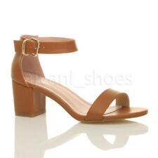 Sandalias y chanclas de mujer de tacón medio (2,5-7,5 cm) de color principal marrón talla 41
